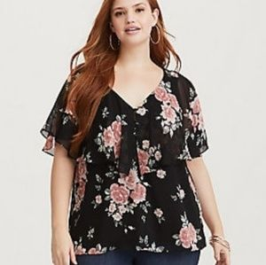 Torrid Floral Layered Top